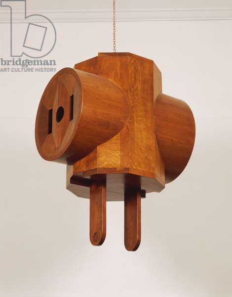 Giant Three-Way Electric Plug, 1970 (cherrywood)