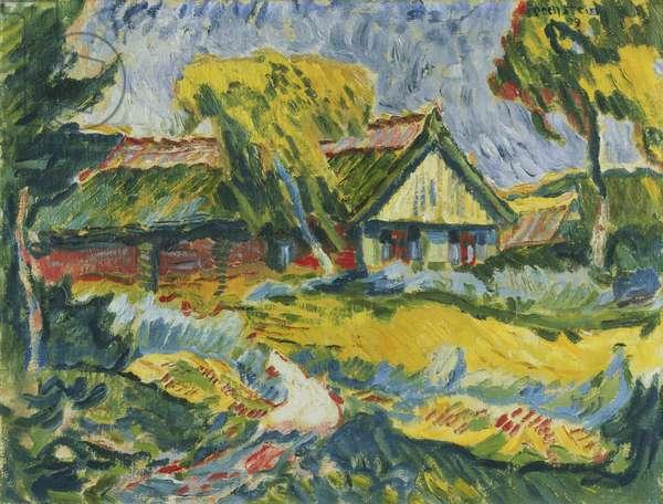 Landscape with Farmhouse, 1909 (oil on canvas)