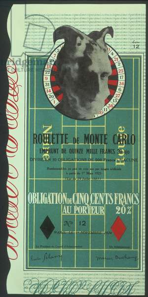 Obligations pour la roulette de Monte-Carlo (Monte Carlo Band) 1938 (colour litho)
