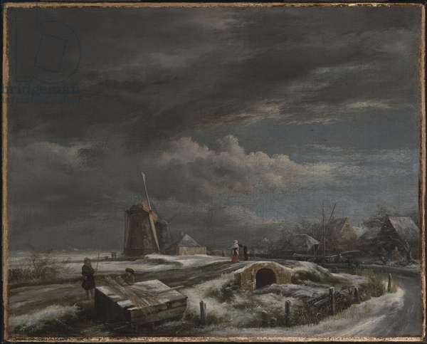 Winter Landscape, late 1660s (oil on canvas)