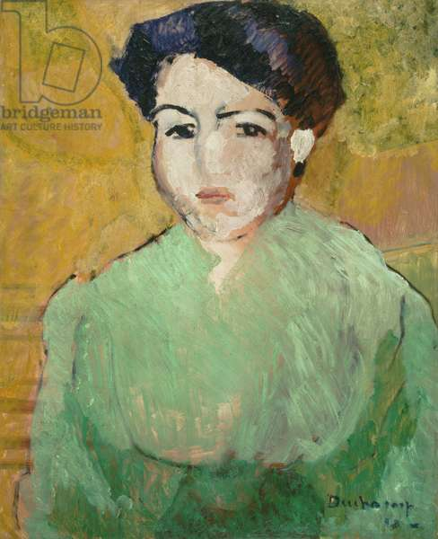 Brunette in a Green Blouse, 1910 (oil on canvas)