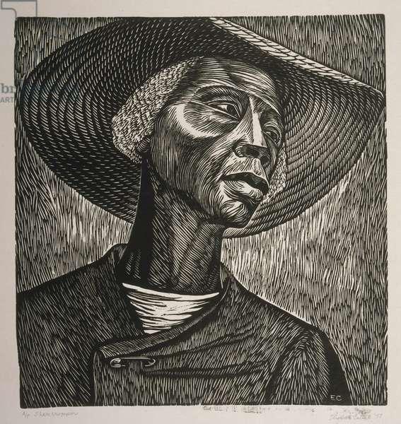 Sharecropper, 1952 (linocut)