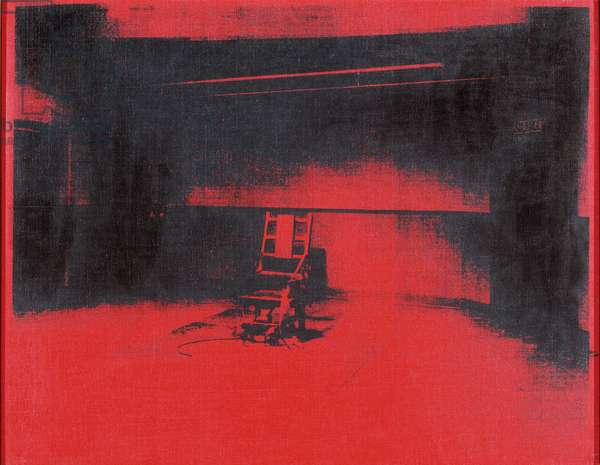 Electric Chair (Red), 1964 (screenprinted synthetic polymer on canvas)