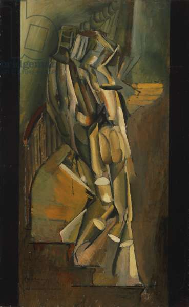 Nude Descending a Staircase (No. 1) 1911 (oil on cardboard on panel)