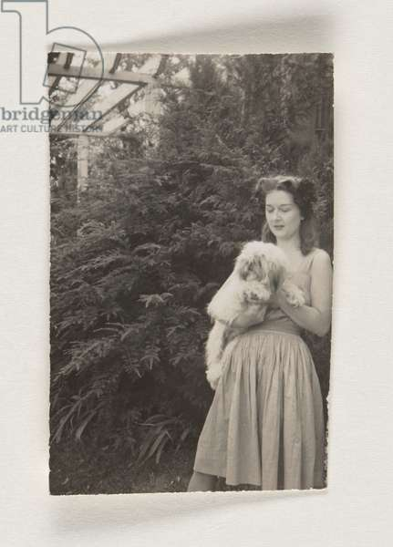 Woman with a Dog (Dorothea Tanning?), c.1935-45 (gelatin silver print)