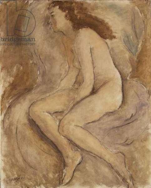 Seated Female Nude, c.1927 (oil on canvas)