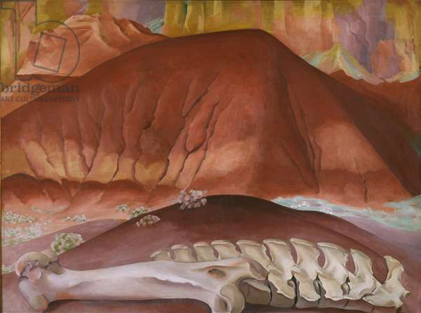 Red Hills and Bones, 1941 (oil on canvas)
