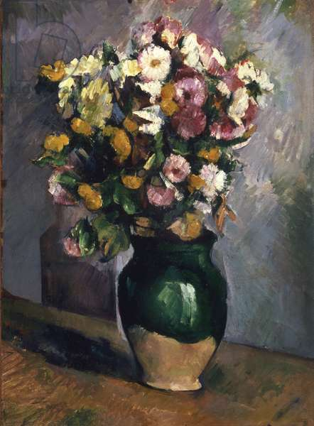Still Life with Flowers in an Olive Jar, c.1880 (oil on canvas)