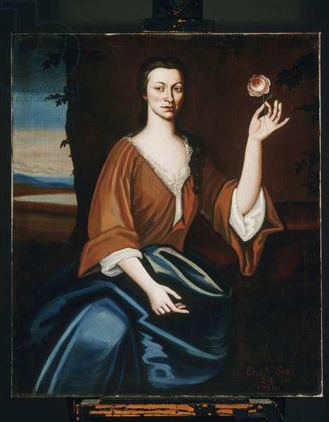Portrait of Catryna van Rensselaer ten Broeck, 1720 (oil on ticking)