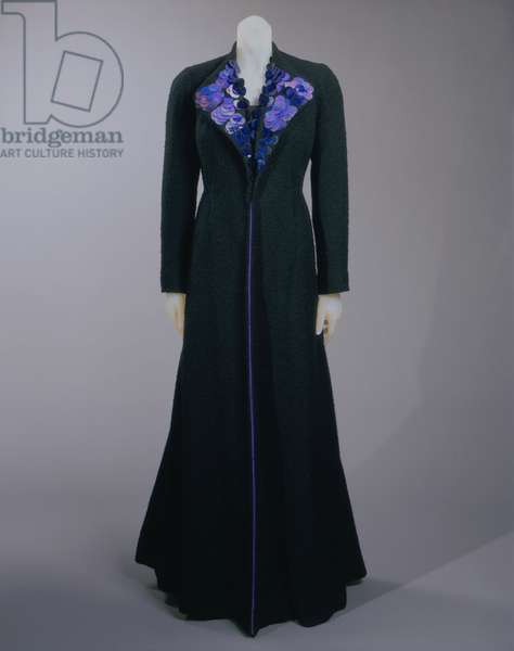 Coat, Winter 1936-37 (silk taffeta & cellophane sequins)