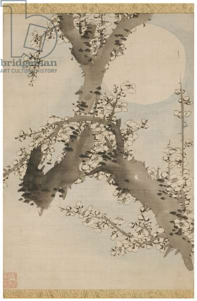 Plum Blossom, early 20th century (ink & colour on silk, framed)