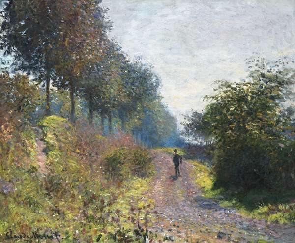 The Sheltered Path, 1873 (oil on canvas)