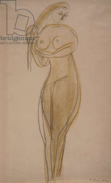 Study for 'The Princess', c.1913-15 (pencil & crayon on paper)