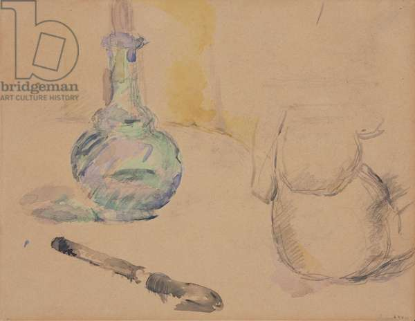 Carafe and Knife, c.1882 (w/c & graphite on paper)