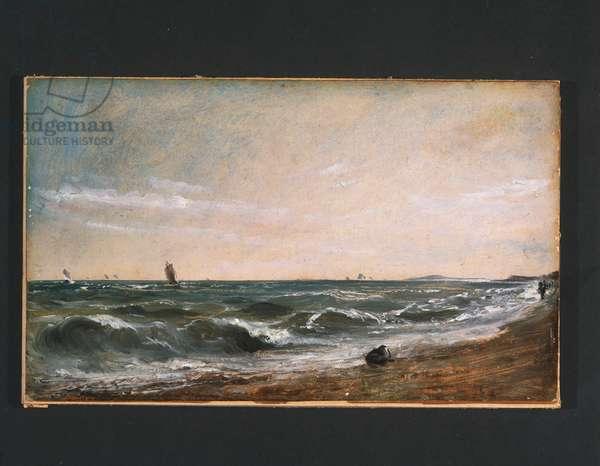 Coast Scene, Brighton, c.1824-28 (oil on wove cardstock)