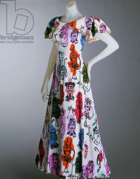 Dinner Dress, Summer 1946 (printed rayon)