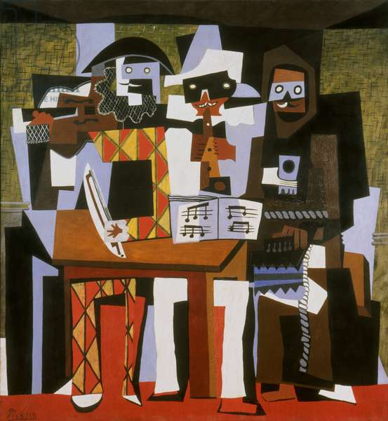 Three Musicians, 1921 (oil on canvas)