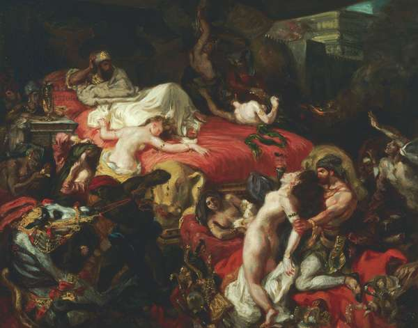 The Death of Sardanapalus, 1844 (oil on canvas)