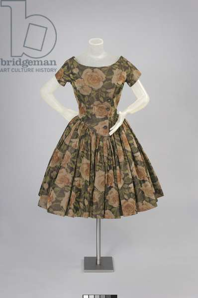 Afternoon Dress, Spring 1957 (printed silk plain weave)