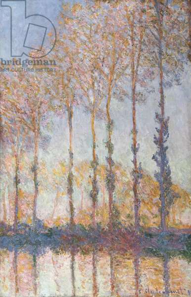 Poplars on the Bank of the Epte River, 1891 (oil on canvas)