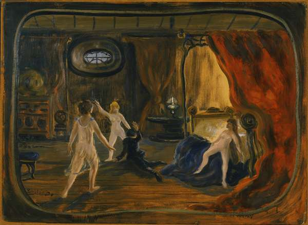 Jealousy, c.1915 (oil on cardboard)