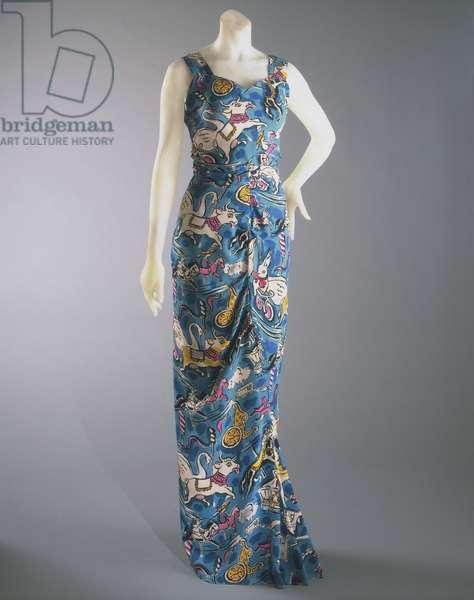 Evening Dress, Summer 1938 (printed silk)