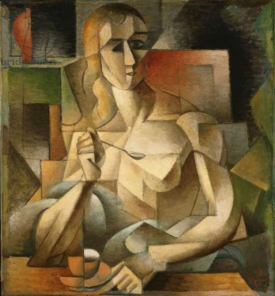 Tea Time (Woman with a Teaspoon) 1911 (oil on cardboard)