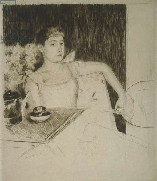 Tea, c.1890 (drypoint)