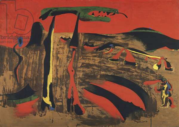 Person in the Presence of Nature, 1935 (oil and aqueous medium on cardboard)