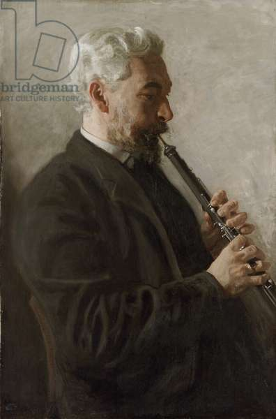 The Oboe Player (Portrait of Dr. Benjamin Sharp) 1903 (oil on canvas)