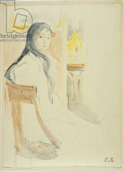 Young Woman with Brown Hair, 1894 (w/c & graphite on paper)