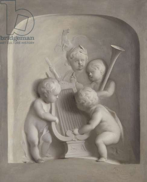 Putti with Musical Instruments, 1750 (oil on canvas)