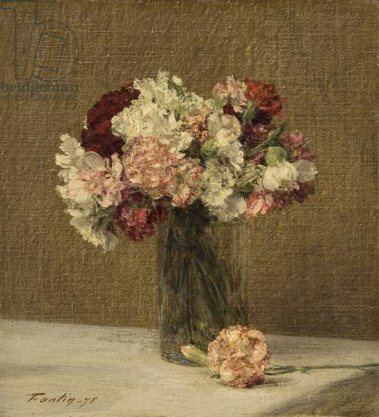 Still Life with Carnations, 1878 (oil on canvas)