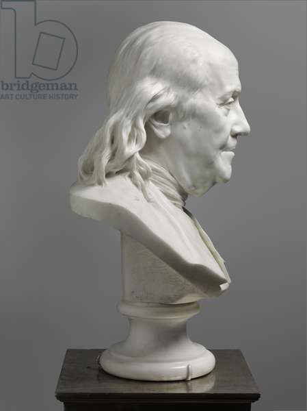 Bust of Benjamin Franklin, 1779 (marble) (see also 450995, 450996, 450998 & 450999)