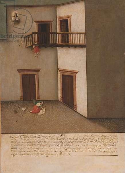 Fall from a Balcony (Caída de un balcón) c.1803 (oil on canvas)