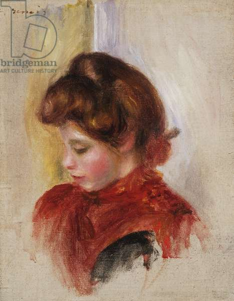 Girl in a Red Scarf, c.1884 (oil on canvas)