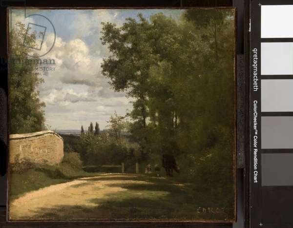 Ville d'Avray, c. 1828 (oil on paper)