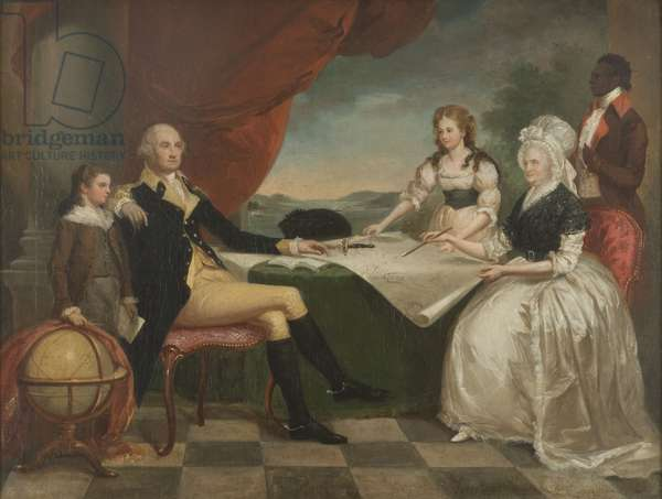 Portrait of George Washington and his Family, c.1850 (oil on canvas)