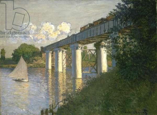 Railroad Bridge, Argenteuil, 1874 (oil on canvas)