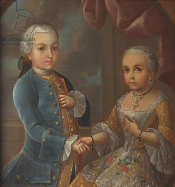 Portrait of two children of the aristocracy (oil on canvas)