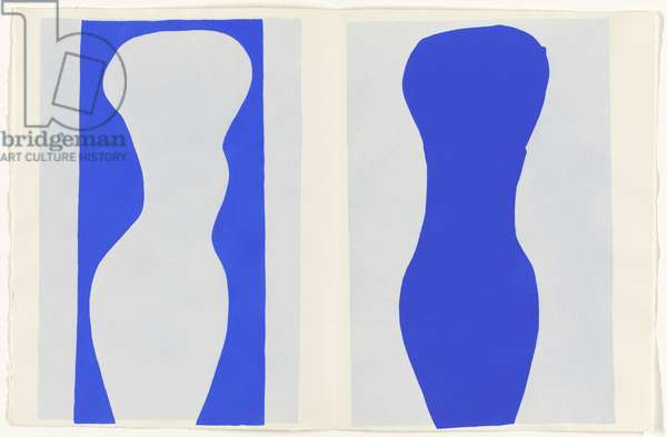 Forms, illustration from the portfolio 'Jazz', 1947 (colour stencil print)