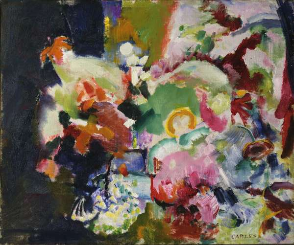 Abstract of Flowers, c.1922 (oil on canvas)