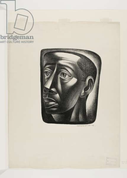 Head of a Young Man, 1946 (litho)