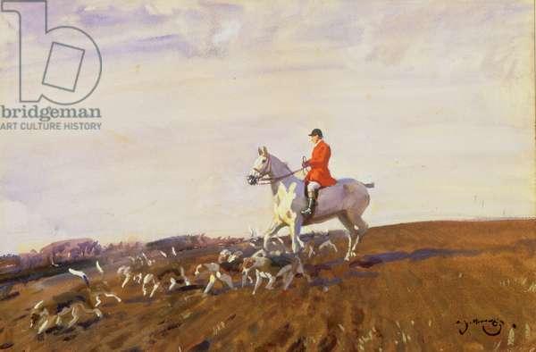 Huntsman (oil on canvas)