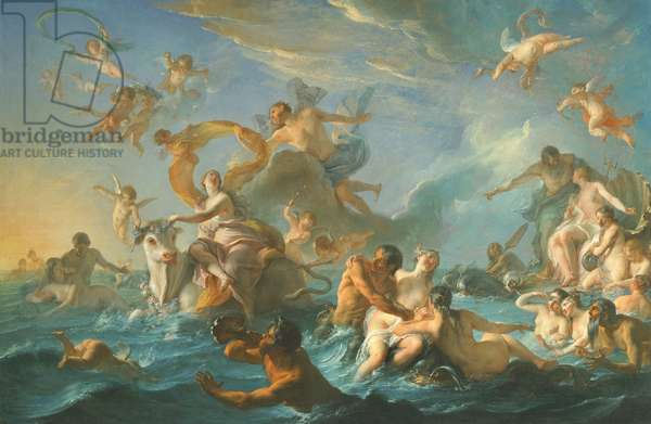 The Abduction of Europa, 1727 (oil on canvas)