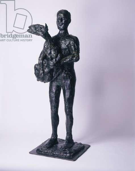 Man with a Lamb, 1943-44 (bronze)
