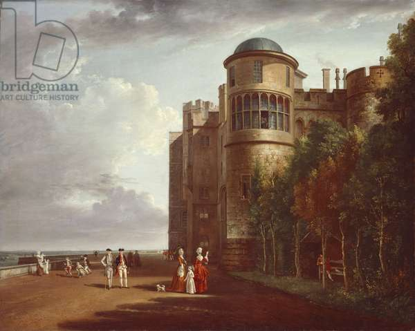 The North Terrace at Windsor Castle, Looking East, c.1775-80 (oil on canvas)