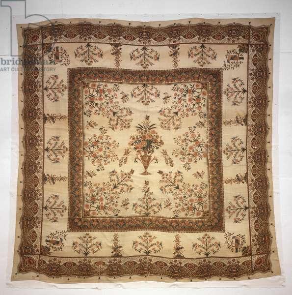 Bedcover, c.1790-1810 (block print on plain weave cotton)