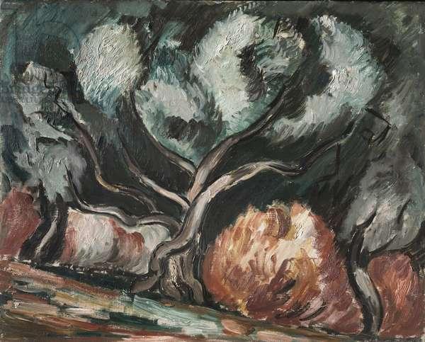 Landscape No. 1, c.1925-26 (oil on panel)