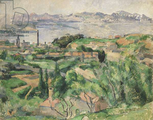 View of the Bay of Marseille with the Village of Saint-Henri, c.1883 (oil on canvas)